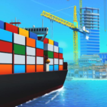 Sea Port Build Town Ship Cargo in Strategy Sim MOD Unlimited Money 1.0.113
