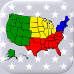 50 US States Map Capitals Flags – American Quiz MOD Unlimited Money 3.1.0