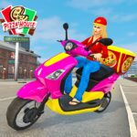 Moto Bike Pizza Delivery Girl Food Game MOD Unlimited Money