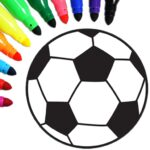 Football coloring book game MOD Unlimited Money