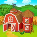 Farm Town Happy village near small city and town MOD Unlimited Money