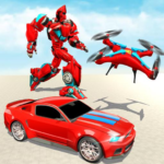 Drone Robot Transforming Game MOD Unlimited Money